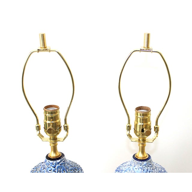 Mid-Century Modern Pottery Lamps - a Pair - Image 7 of 7