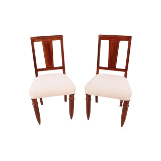 1940s English Side Chairs - A Pair