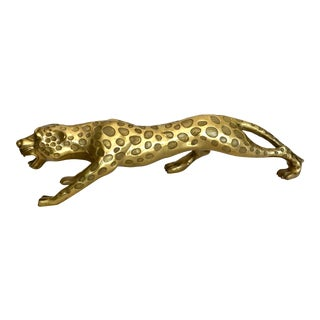 Brass Cheetah Statue