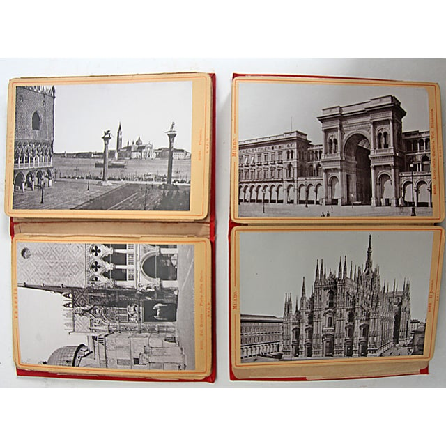 Vintage Italian Red Postcard Books - A Pair - Image 3 of 10