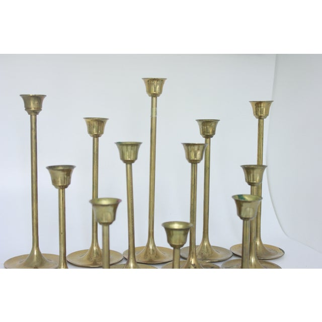Brass Candlestick Collection - Set of 12 - Image 5 of 7