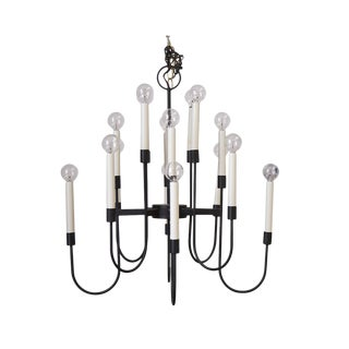 16 Arm Lightolier Iron Chandelier