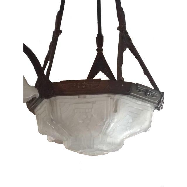 Image of Vintage Art Deco Wrought Iron Pendant