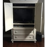 Image of Shabby Chic White Wood Armoire