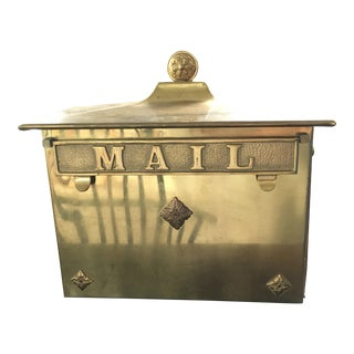 Brass Mailbox Wall Mount With Slot + Side Door