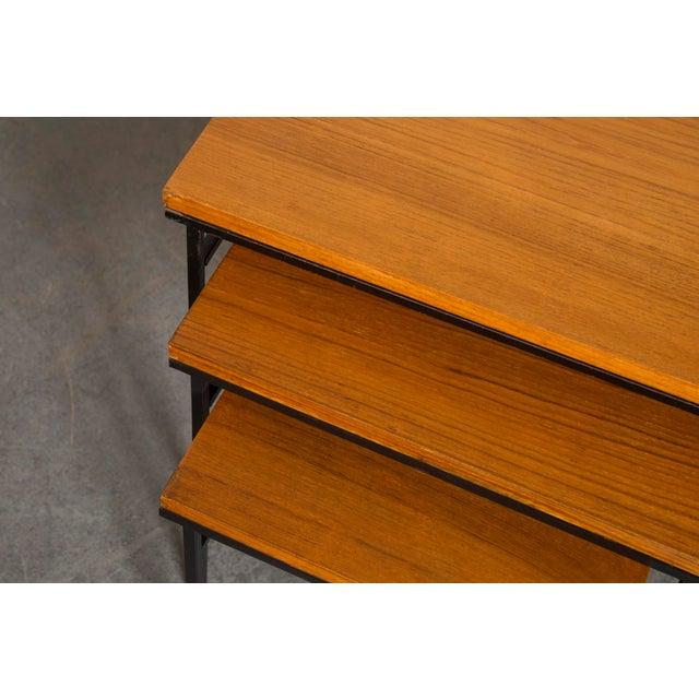 Teak Nesting Side Tables - Set of 3 - Image 5 of 9