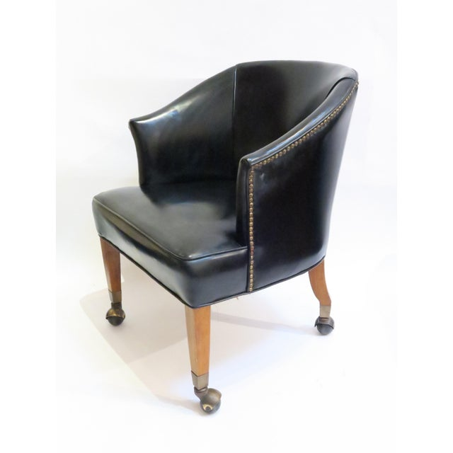 Image of Vintage Black Armchair