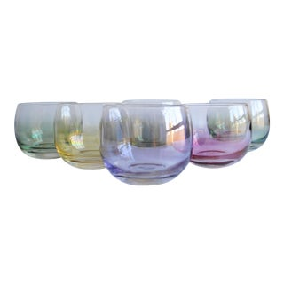 Vintage Roly Poly Glasses - Set of 6