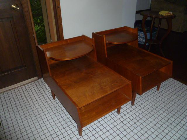 Kipp Stewart Drexel Declaration Two Tier End Tables   A Pair   Image 2 Of 7