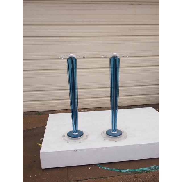 Image of Cobalt & Lucite Pedestals- A Pair