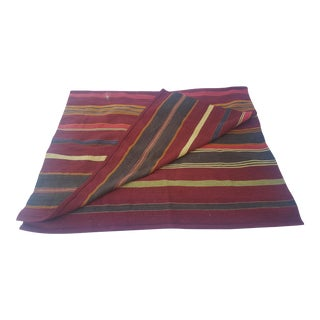 Turkish Kilim Striped Rug - 4′11″ × 7′10″