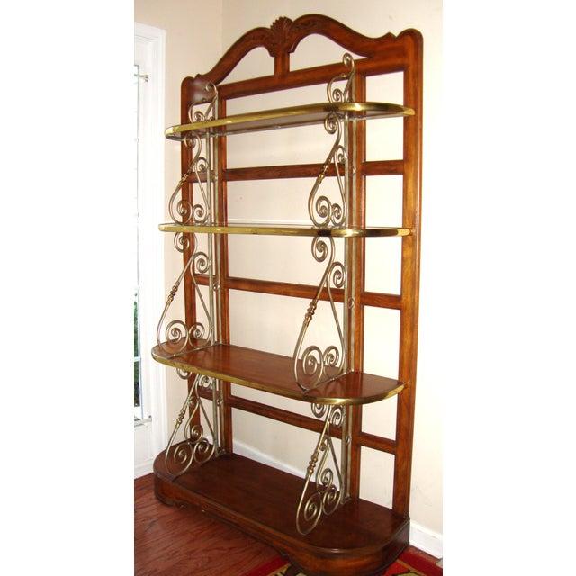 Vintage Brass Pecan Drexel Shelf - Image 3 of 8