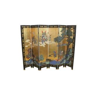 1920s Double Sided Asian Folding Screen