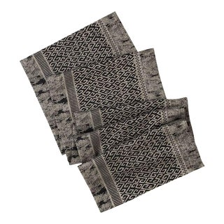 Ruba Linen & Viscose Gray Patterned Table Runner