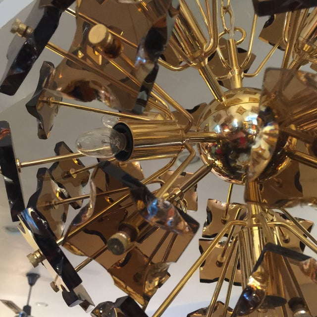 Fontana Arte Sputnik Chandelier Bronze Glass - Image 6 of 8