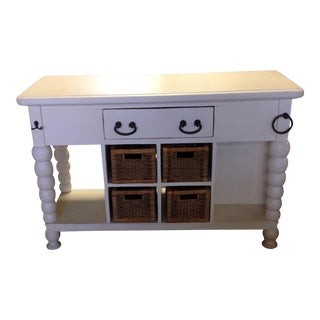 Light Wood Kitchen Island with Storage
