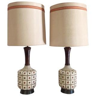 Jo- Wallis Mid Century Modern Lamps- A Pair
