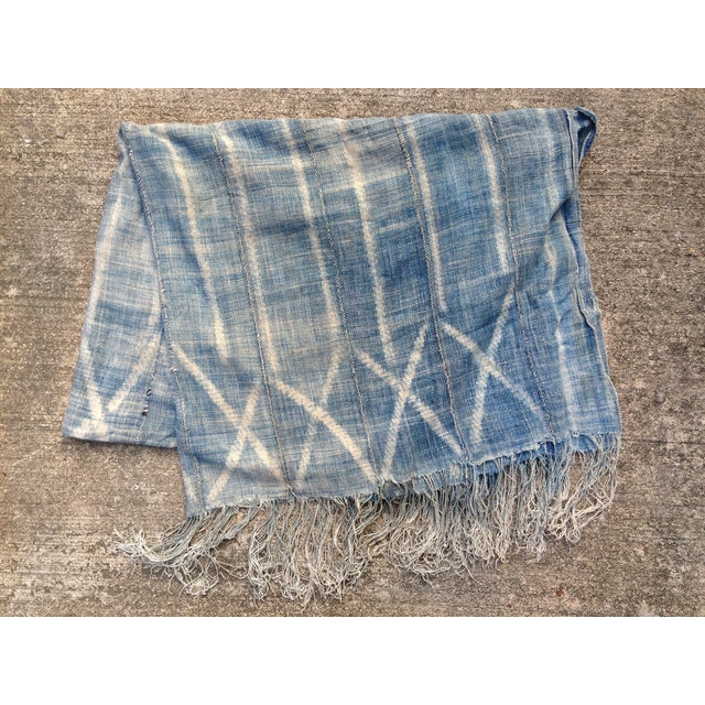 Vintage West African Indigo Mudcloth Throw Chairish
