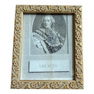Antique Louis XV Engraving in Gold Decorative Frame