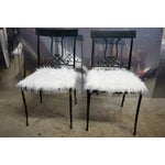 Image of Wrought Iron Musical Chairs - A Pair