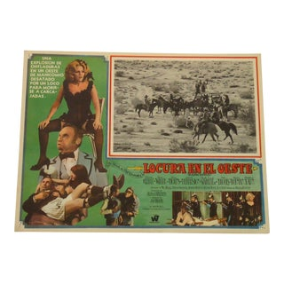 Vintage Spanish Movie Poster, Blazing Saddles