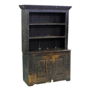 American Primitive Cabinet With Original Paint