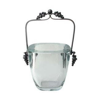 Dragsted Sterling & Crystal Ice Bucket