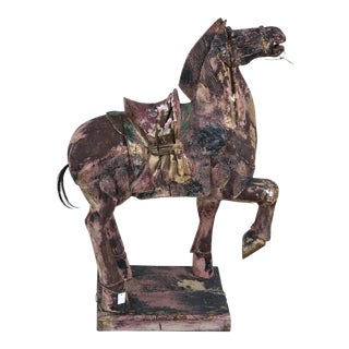 Carved Asian Horse Statue