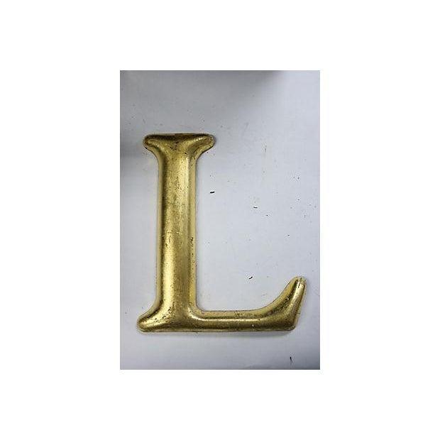 """Image of Vintage English Pub Sign Letter """"L"""""""