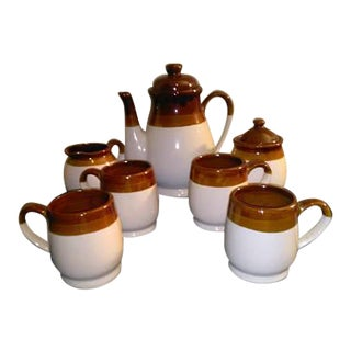 Vintage Glazed Stoneware Coffee Set