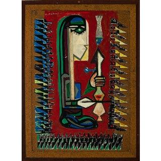 """Bedhi Rahmi"" Abstract Acrylic Painting"