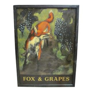 English Pub Sign Fox and Grapes