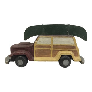 Carved Wood Toy Car