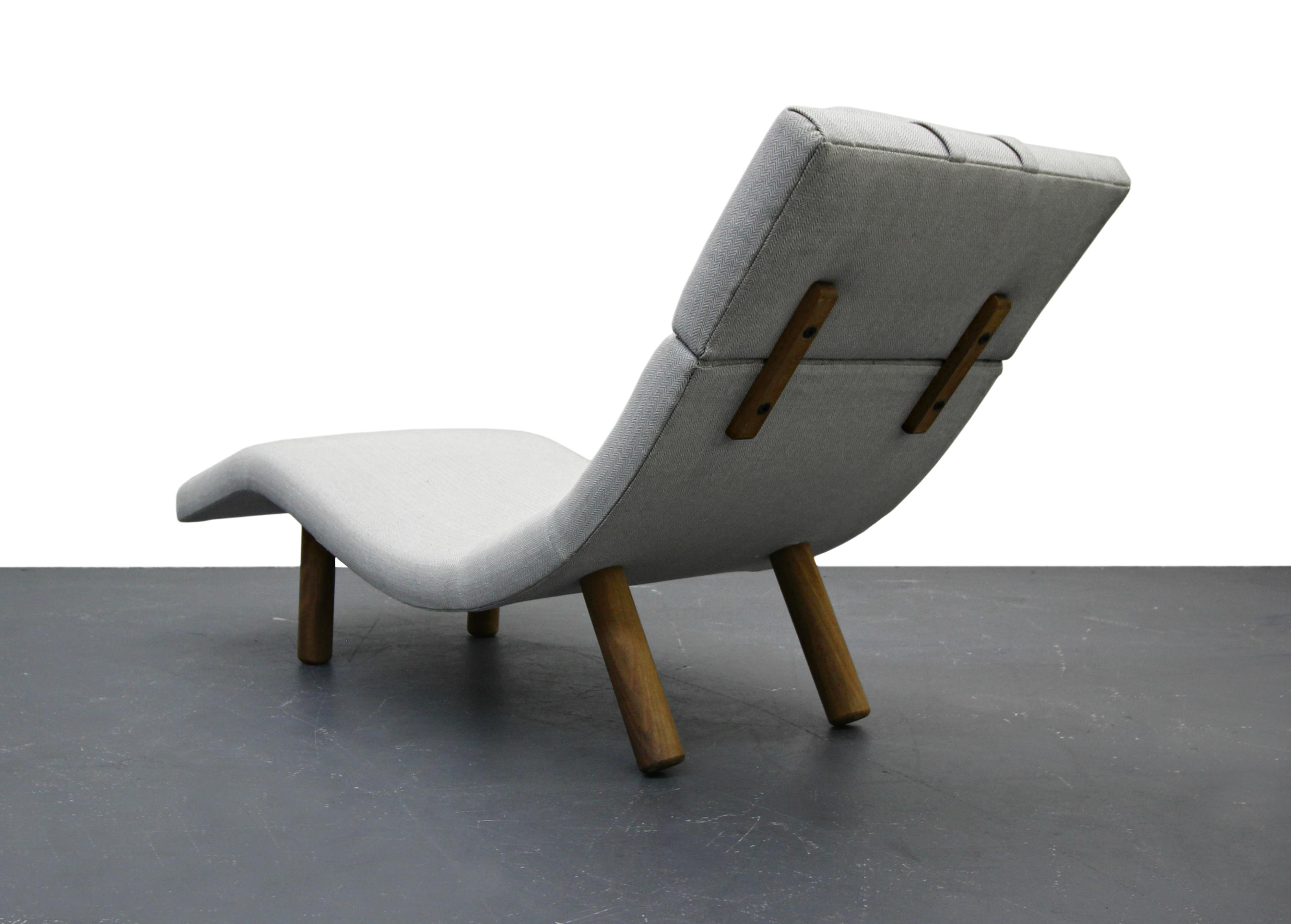 Finn Juhl Style Mid-Century Wave Chaise Lounge Chair - Image 3 of 8  sc 1 st  Chairish : wave chaise - Sectionals, Sofas & Couches