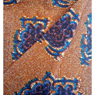 African Dutch Wax Fabric, Summer Orange - 3 Yards