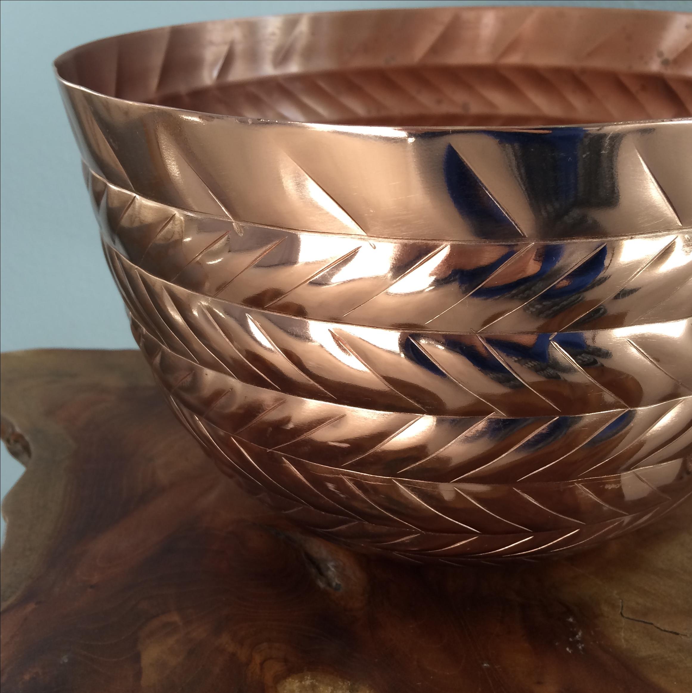 copper herringbone planter chairish
