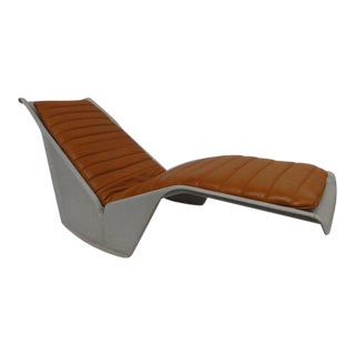 Rare Serpentina chaise by Burghardt Vogtherr for Rosenthal studio