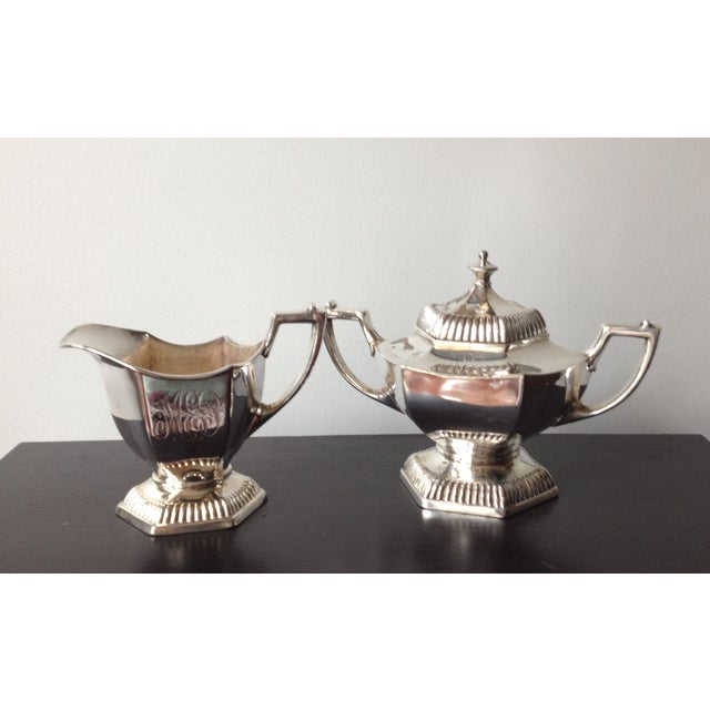 Silver Cream & Sugar Servers - Image 2 of 8