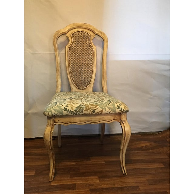 Vintage Cream Cane French Provencial Chair - Image 2 of 9