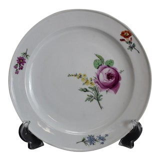 Circa 1800 Meissen Marcolini Porcelain Dinner Plate