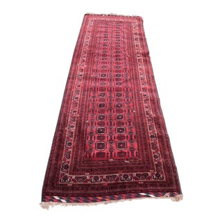 "Turkoman Red Colour Runner Carpet - 9'3"" x 3'1"""