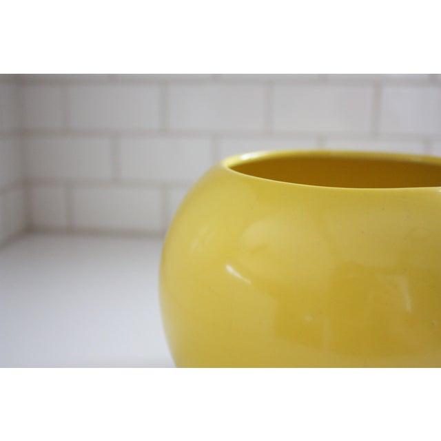 Mid-Century Yellow Ceramic Vase - Image 3 of 5