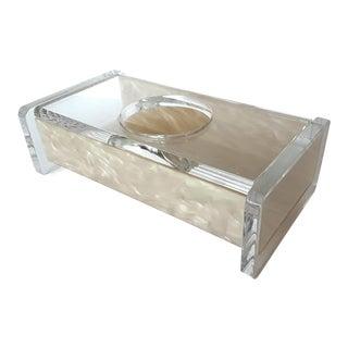 Vintage George Bullio Lucite Tissue Box