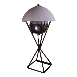 Atomic Age Perforated Table Lamp