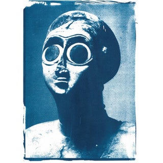 Cyanotype Print of a Sumerian Sculpture