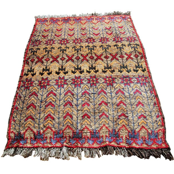 Vintage Brown Persian Tribal Rug - 2′8″ × 3′5″ - Image 1 of 6