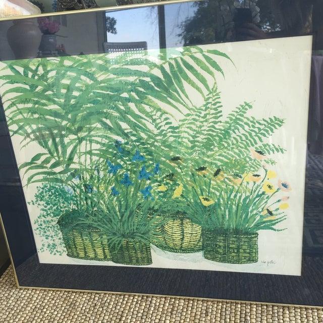 1970's Palm Beach Regency Artist Ida Pellei Botanical Gallery Framed Art - Image 4 of 11