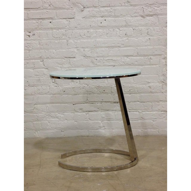 Contemporary Chrome C-Base Side Table - Image 2 of 4