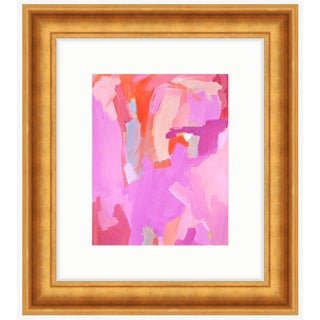 """Pink """"Orchid"""" Framed Painting Print"""