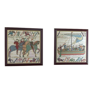 Framed European Tapestries - A Pair
